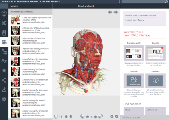 Primal Pictures New 3D Atlas of Human Anatomy User Interface Now ...
